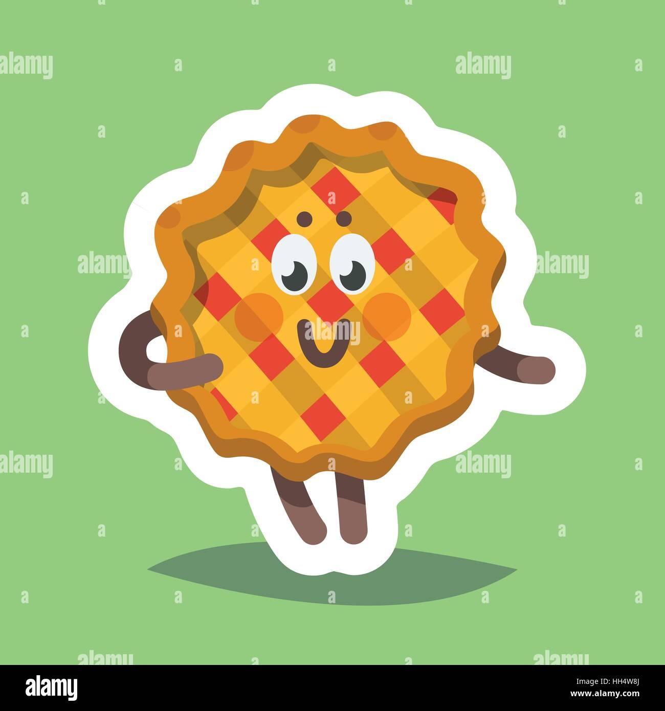 Vektor Illustration Emoticon Emoji Icon Thema Herbstferien Herbst