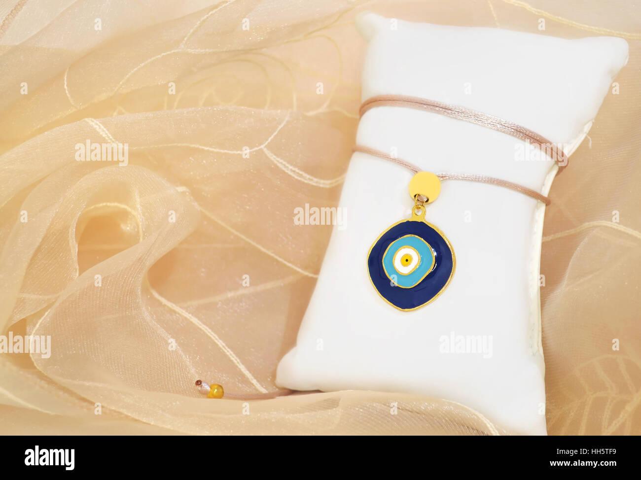 blauen bösen Blick Halskette griechische Schmuck