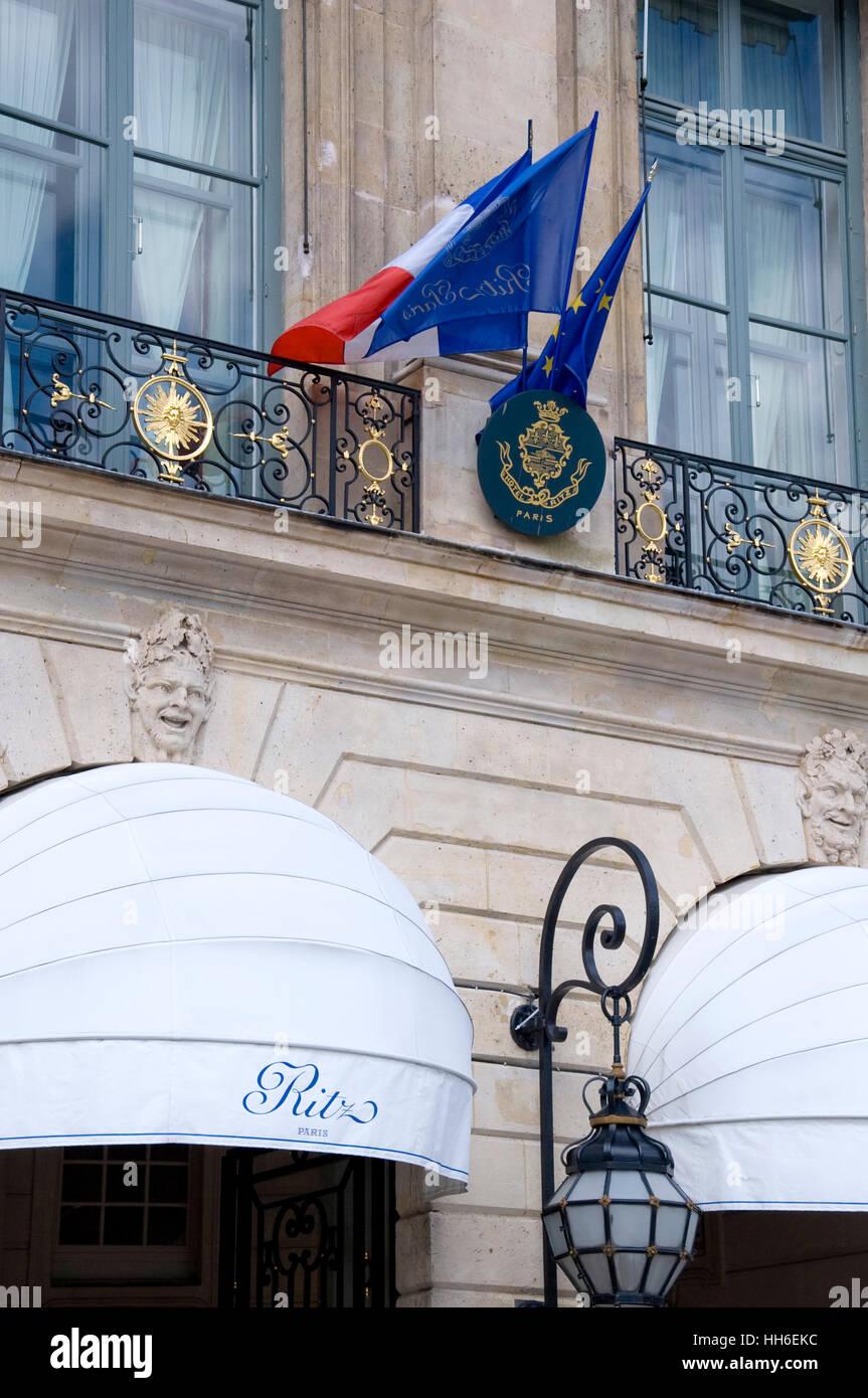 Detail aus dem Ritz in Paris, Frankreich Stockbild