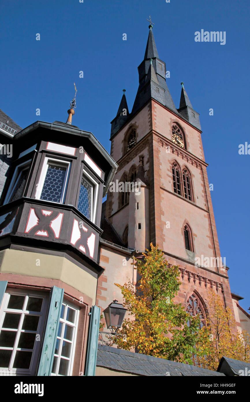 katholische Pfarrkirche st. Valentinus (Kiedrich) Stockbild