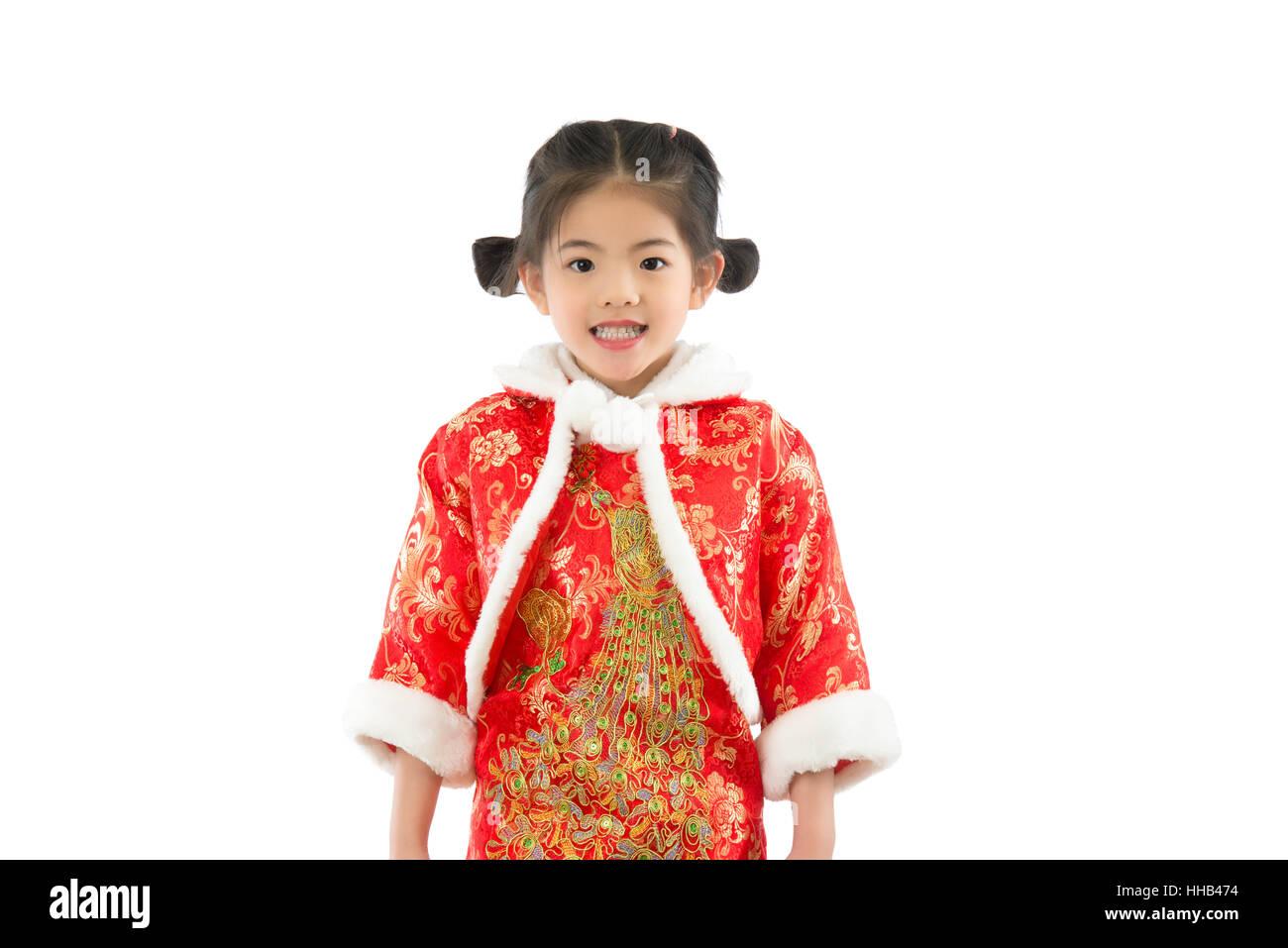 Orientalische Mädchen Ich wünsche Ihnen ein glückliches chinesische ...