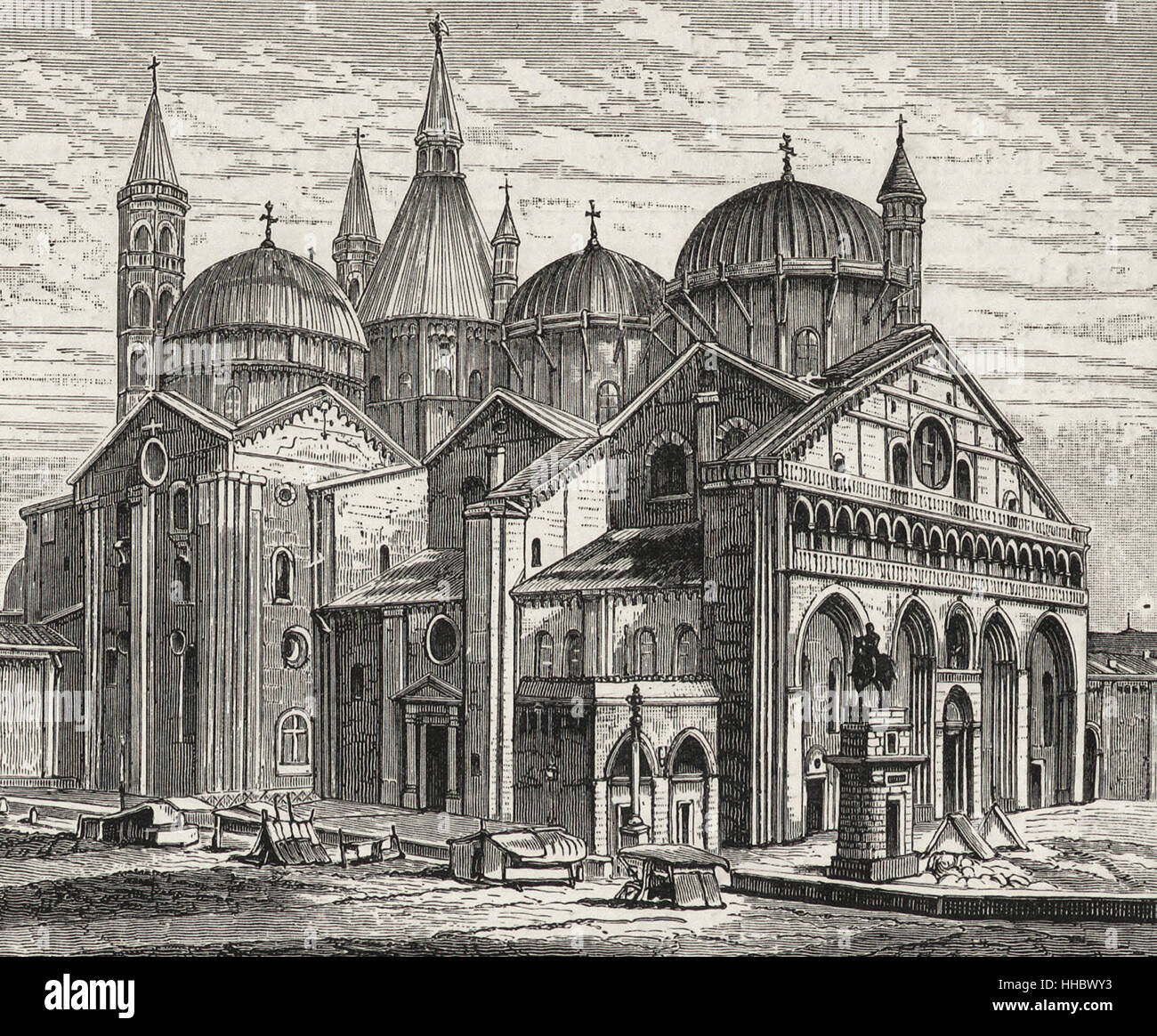 Kirche des Hl. Antonius, Padua, 1307 fertiggestellt Stockbild