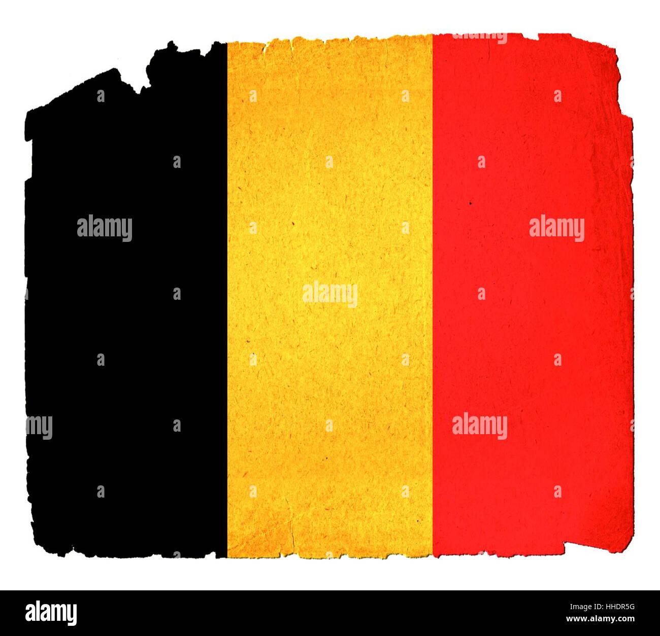 Belgien, Flagge, Flaggen, Long shot, retro, Kutte, absolut, Dekorationen, Stockbild
