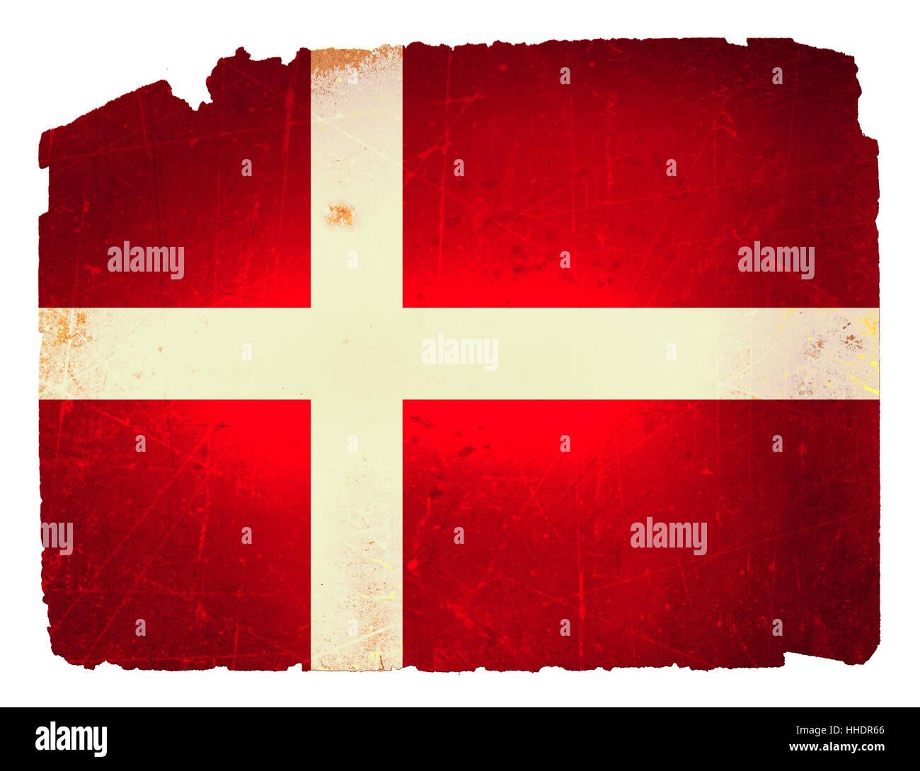 Dänemark, Flagge, Flaggen, Long shot, retro, Kutte, absolut, Dekorationen, Stockbild