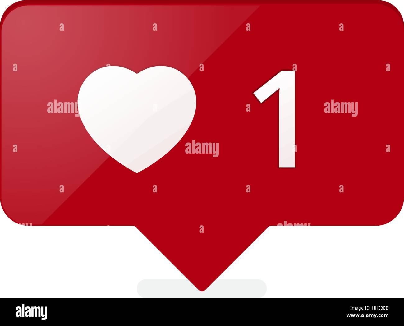 Wie Counter Notification Symbol Rote Farbe Vektor Lager Vektor