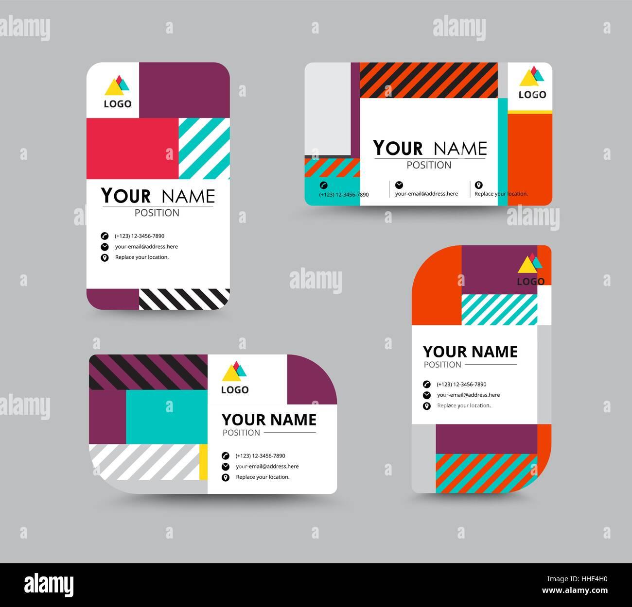 Moderne Visitenkarte Und Namen Kartendesign Contempolary