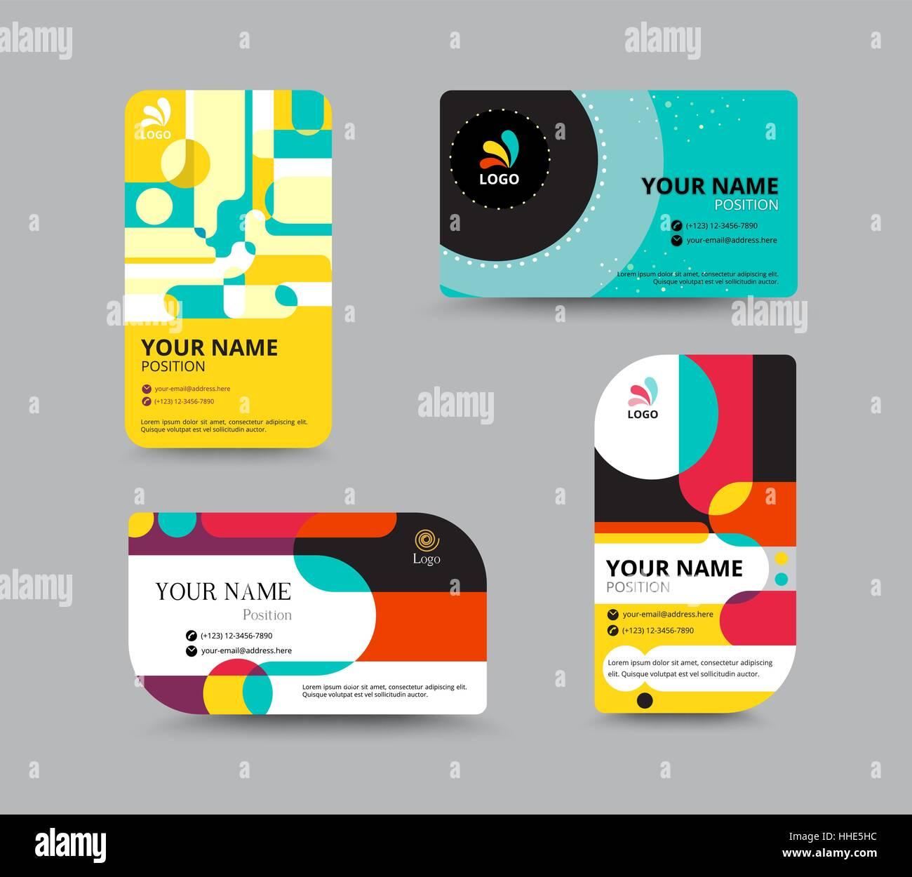 Visitenkarte Vorlage Name Kartendesign Für Unternehmen