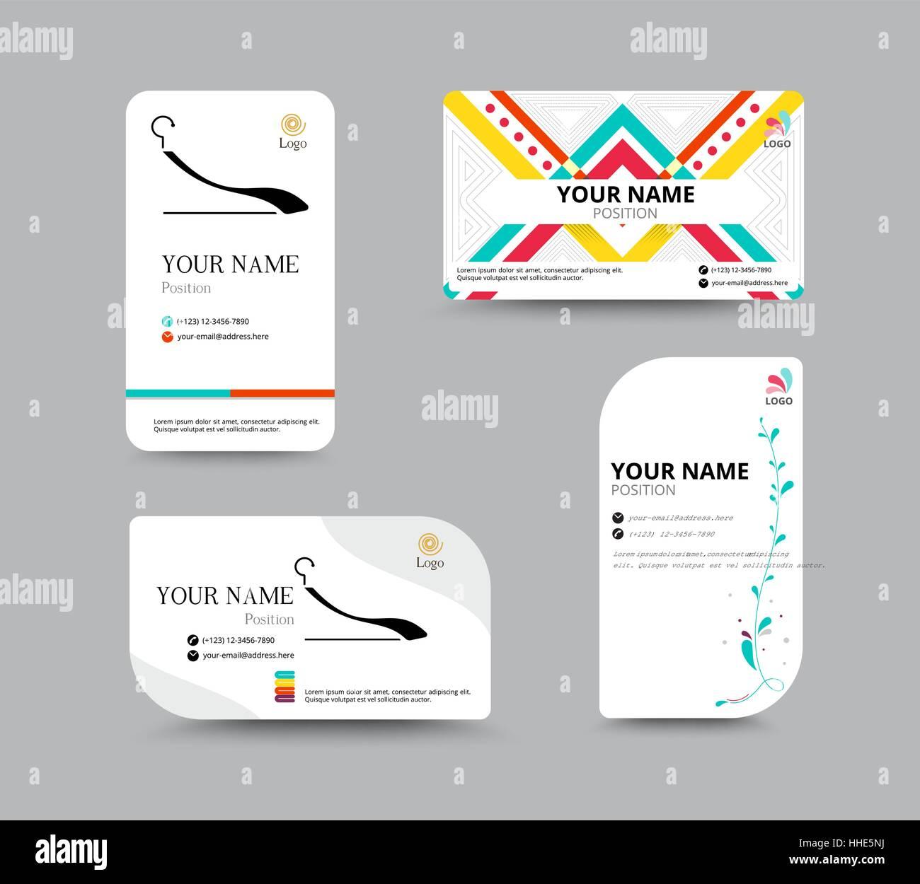 Visitenkarten Vorlagen Visitenkarten Layout Design Vektor