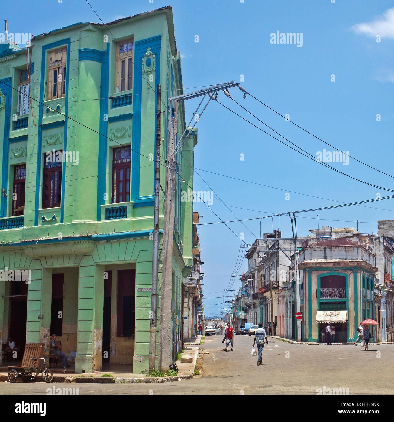 Straße Konvergenz Havanna Zentralkuba Stockbild