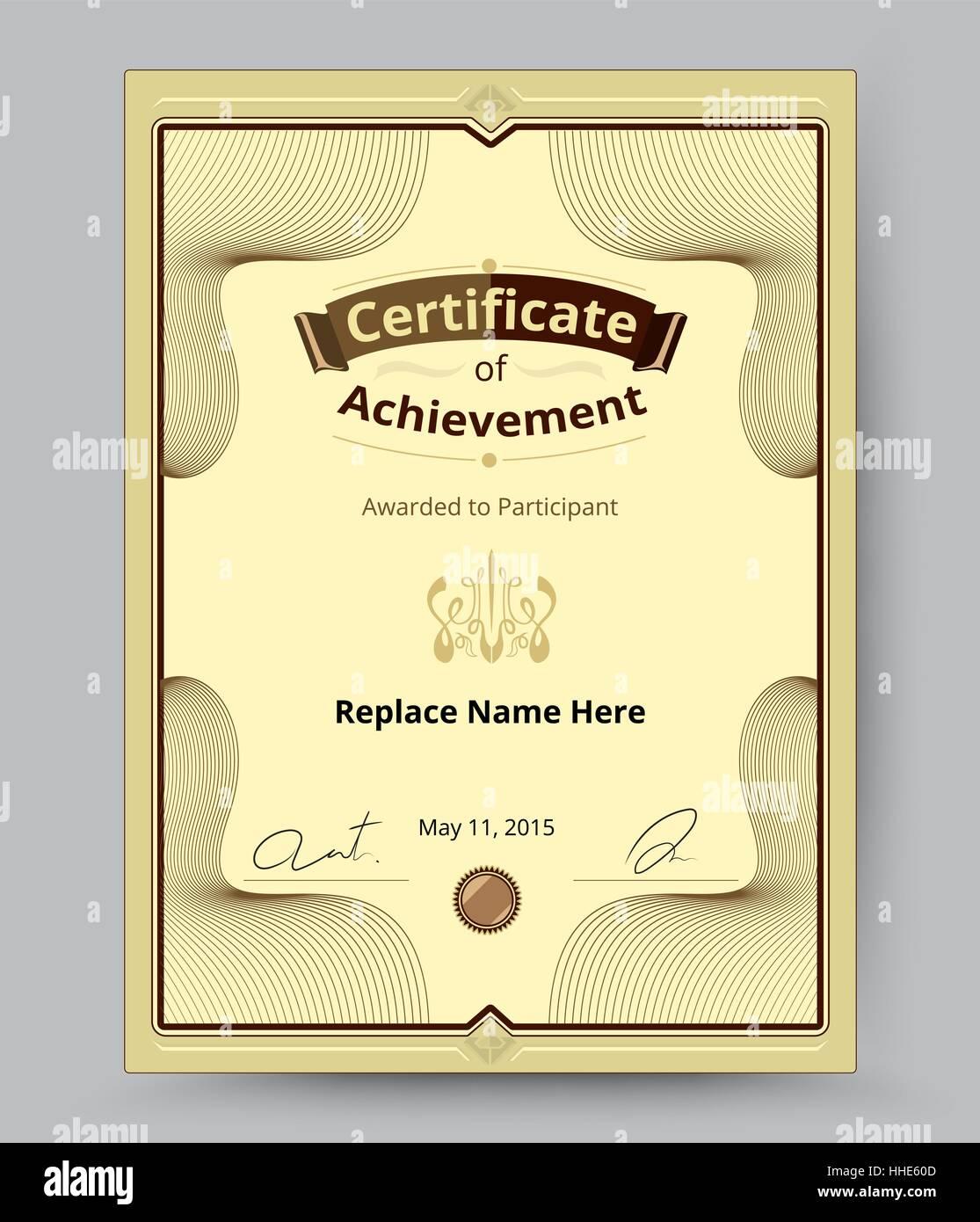 Luxus-Zertifikat Grenze Zertifikatvorlage für Namen und etc ...