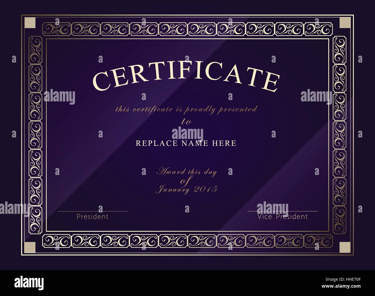 Certificate Border Stockfotos & Certificate Border Bilder - Alamy