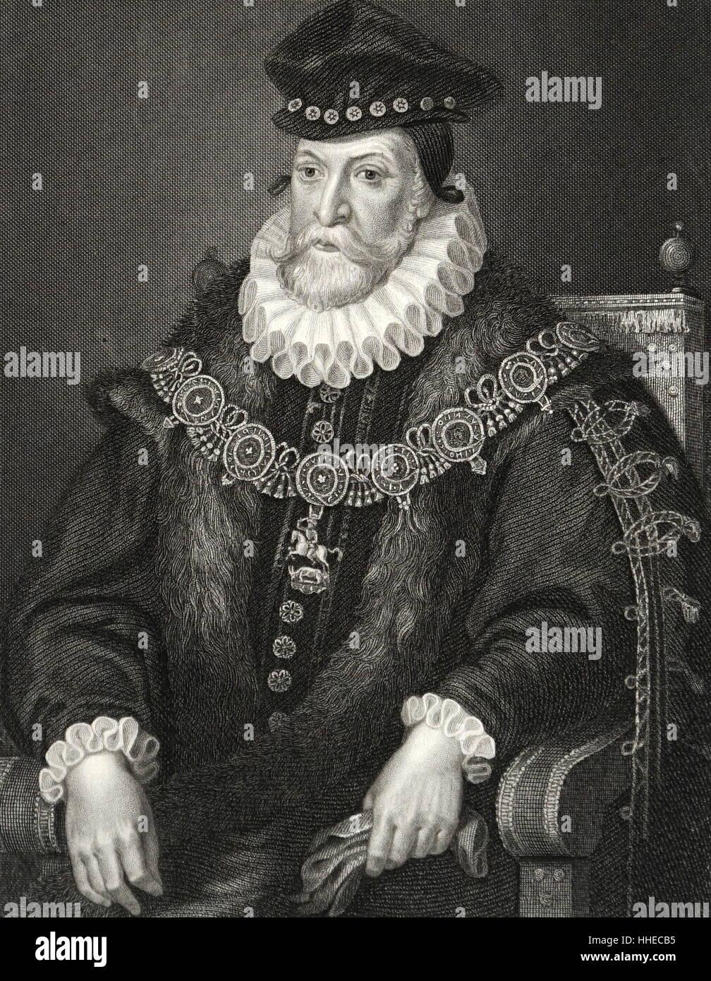 Edward Fiennes Clinton (1512 ? 1585) 1. Earl of Lincoln; Englischer Staatsmann Stockbild