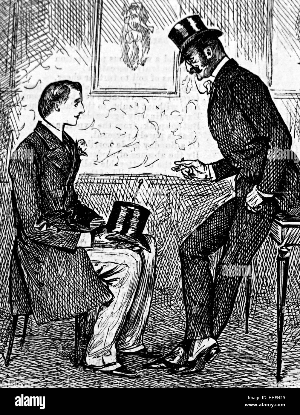 Illustration von George du Maurier Stockbild