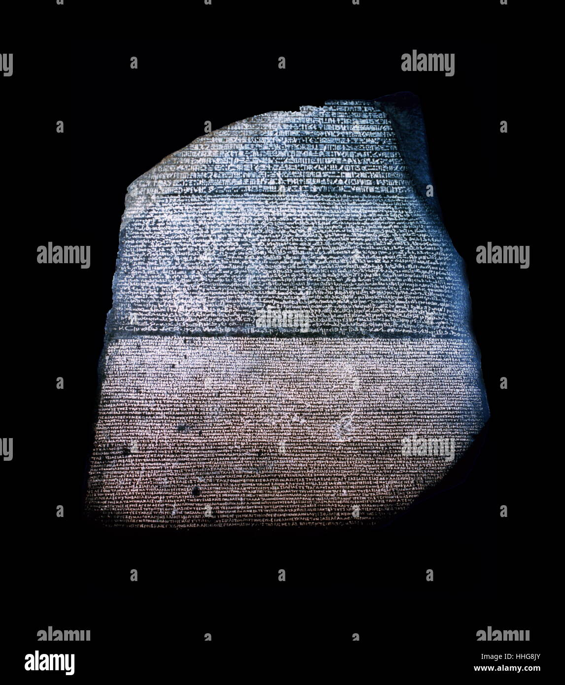 Hieroglyphen Entschlüsselung Rosetta Stein Stein von Rosette Replikat
