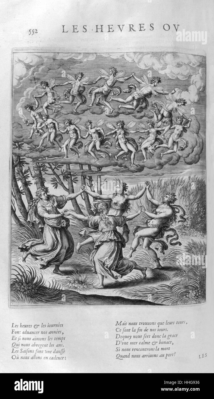 Les Heures (Stunden). Platte aus Les Images Ou Tableaux De Platte Peinture Des Deux Philostrates Selbstbetrachtungen Stockbild