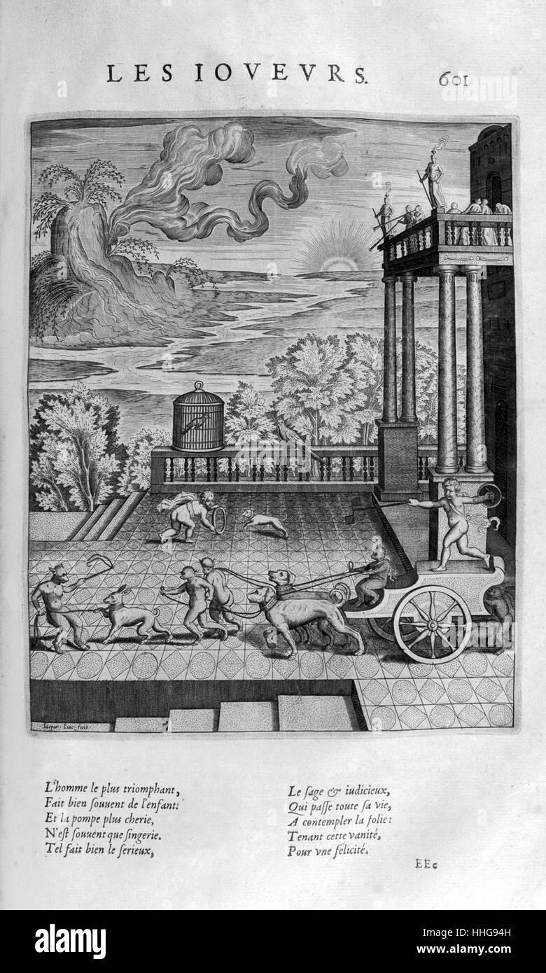 Der Spieler, 1615. Eine Platte aus Les Images Ou Tableaux De Platte Peinture Des Deux Philostrates Selbstbetrachtungen Stockbild