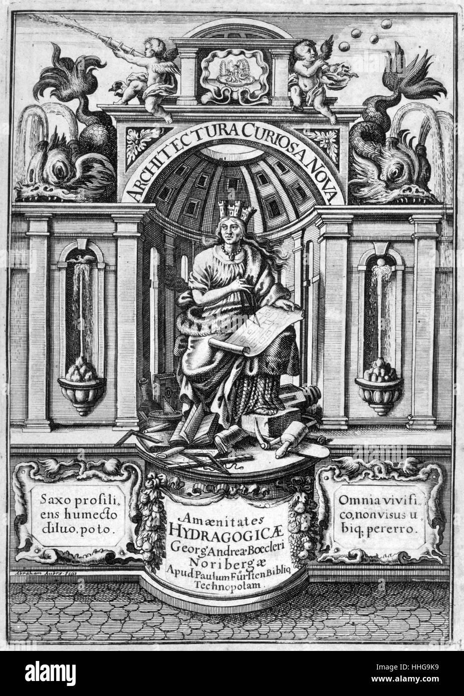 Architektur Buch | Abbildung Aus Dem 17 Jahrhundert Architektur Buch Architectura