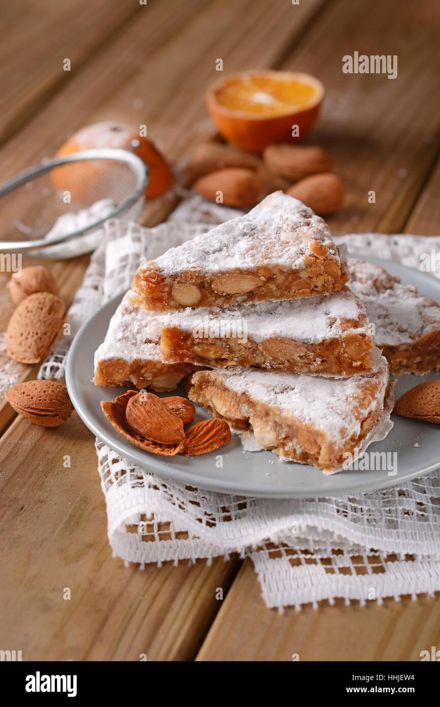 Panforte Von Siena Traditionelle Italienische Weihnachten Kuchen