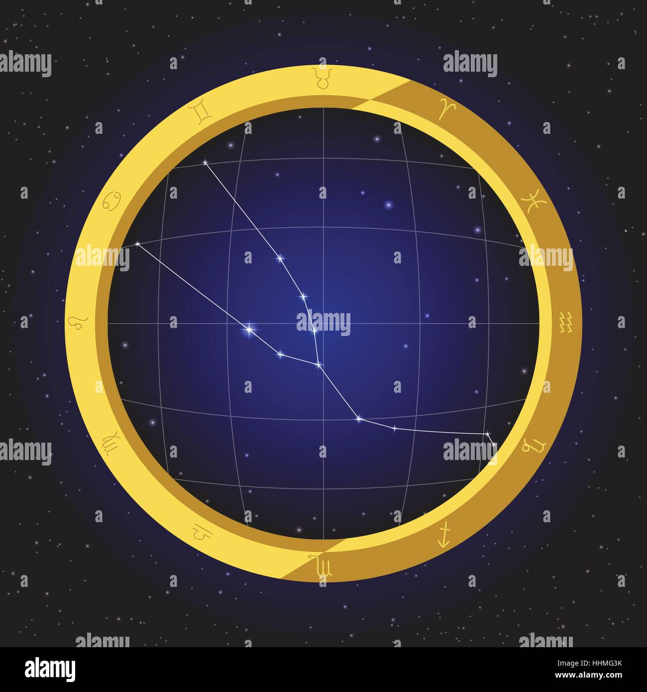 The Constellation Of Taurus Stockfotos & The Constellation Of Taurus ...