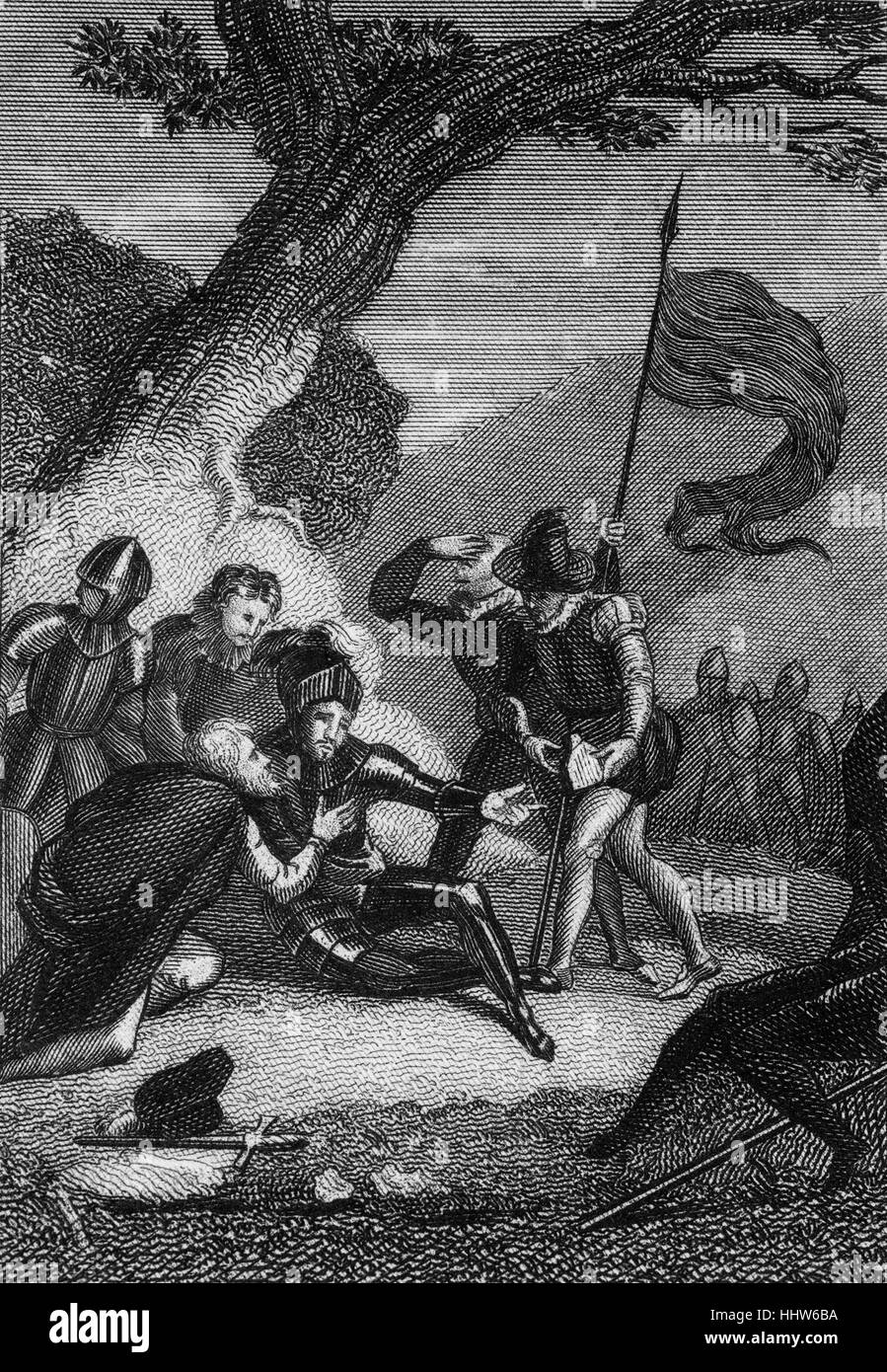 Sir Philip Sidney (1554-1586) war ein englischer Dichter, Höfling, Gelehrter und Soldat, der als einer der Stockbild