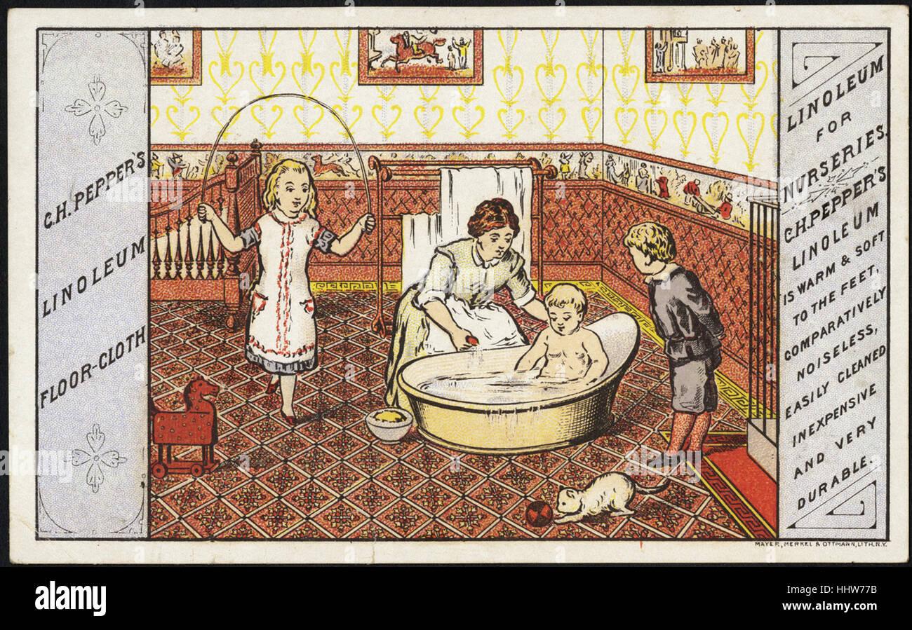 C H Pfeffer Linoleum Wischtuch Linoleum Für Kindergärten Vorne