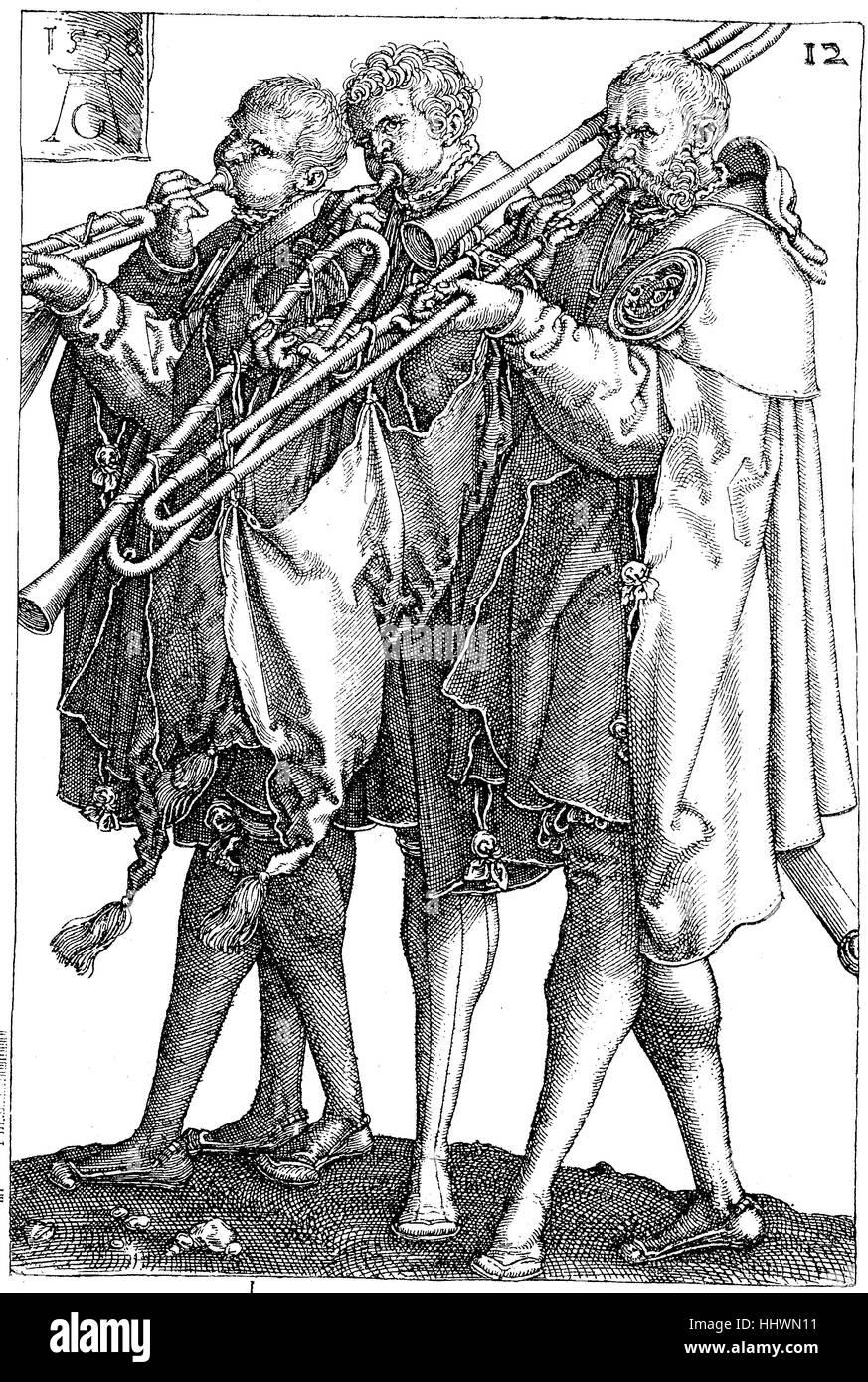 Aus der Serie (1502-1562), Kupferstich, der Hochzeit Tänzer veröffentlicht Hochzeitstaenzer, von Heinrich Stockbild