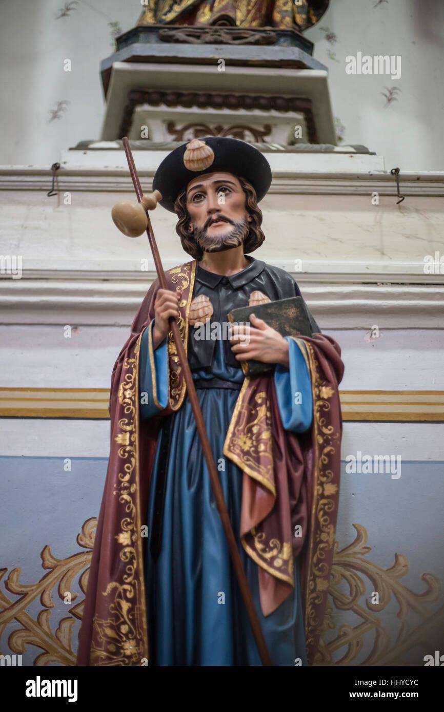 Religionen-Statue, Óbidos, Portugal Stockbild