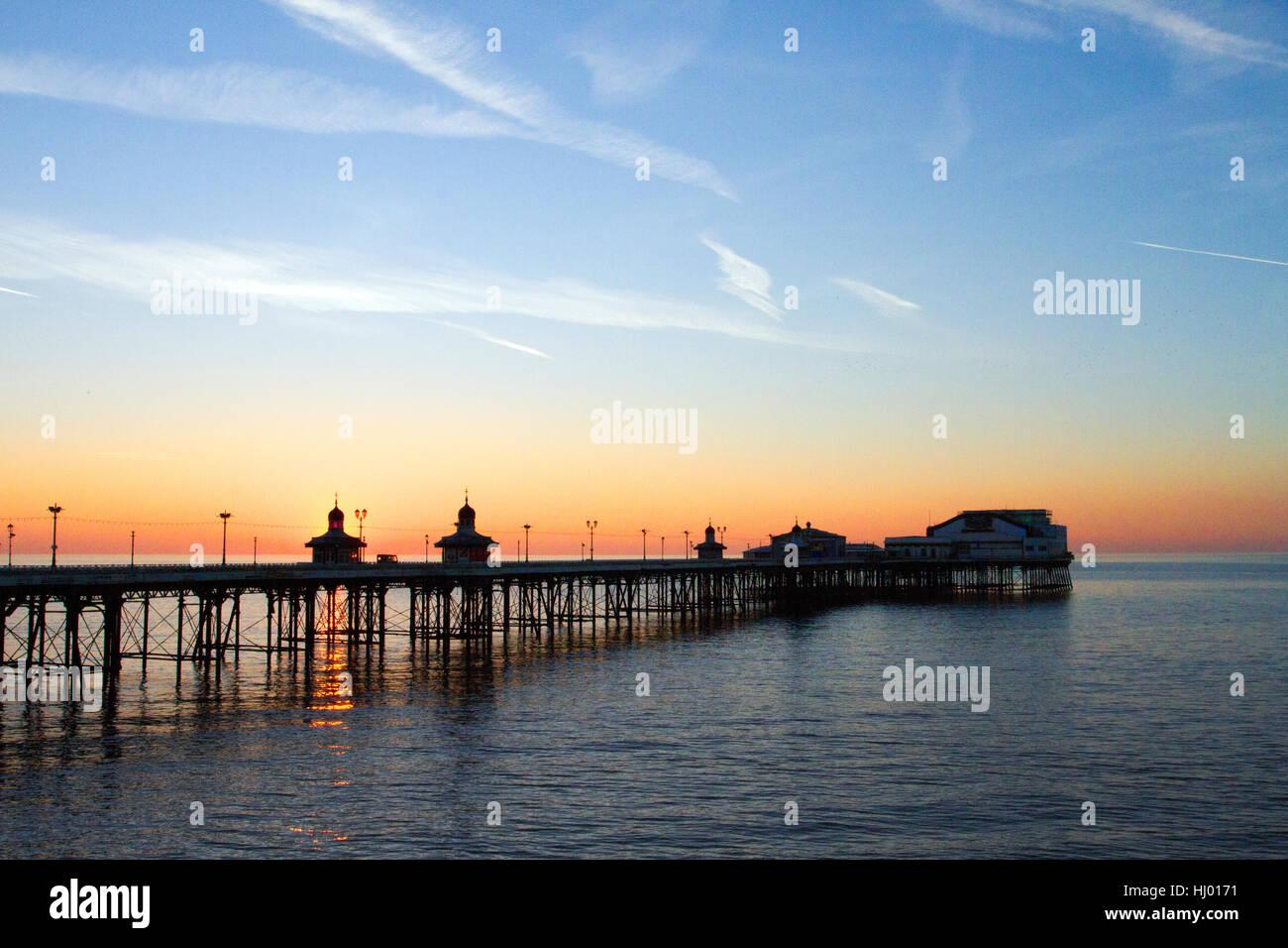 Auszeichnung North Pier, einem viktorianischen Struktur und Wahrzeichen, Lancashire, UK Stockfoto