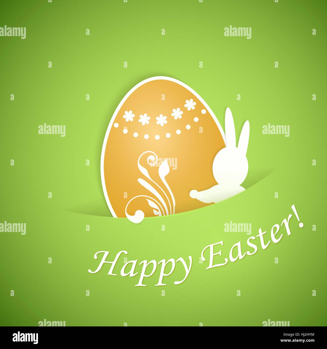 Ostern, Kaninchen, Hasen, Karte, Ei, Rahmen, Elemente, Rahmen ...