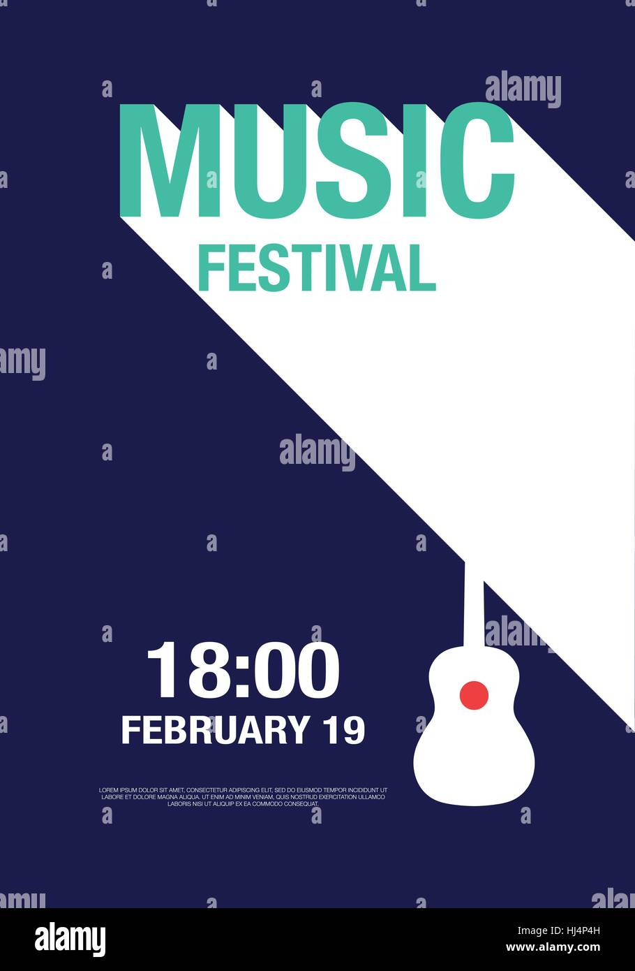 Abstrakte moderne Plakat Konzert, Design-Elemente für Poster ...
