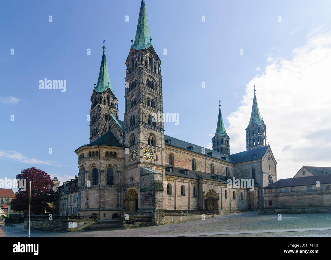 Bamberg: Dom am Domplatz, Oberfranken, Oberfranken, Bayern, Bayern, Deutschland Stockbild