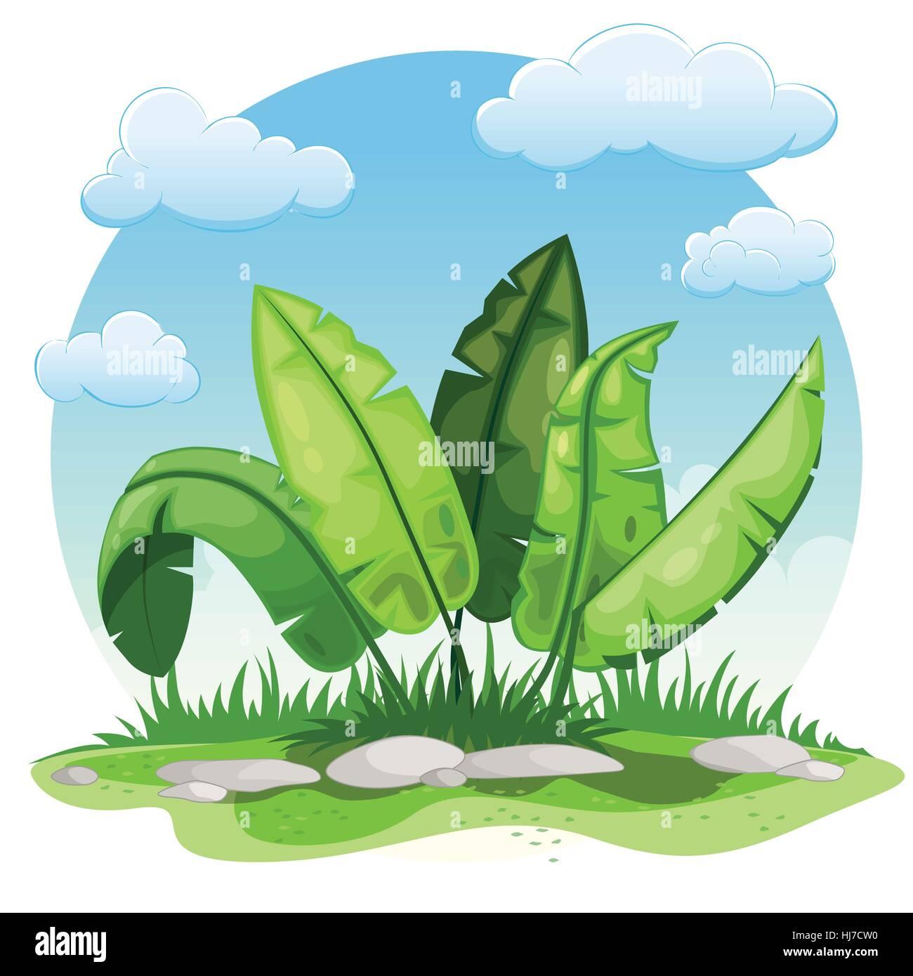 Illustration der Cartoon-Pflanzen Stockbild