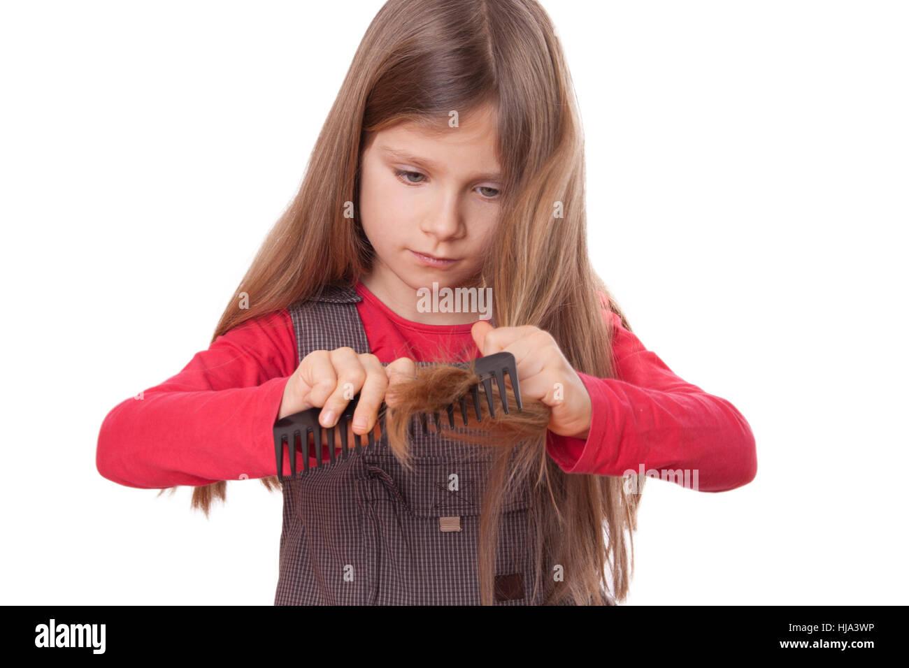 Haare Frisur Kamm Kind Kämmen Mädchen Mädchen Kinder Kinder