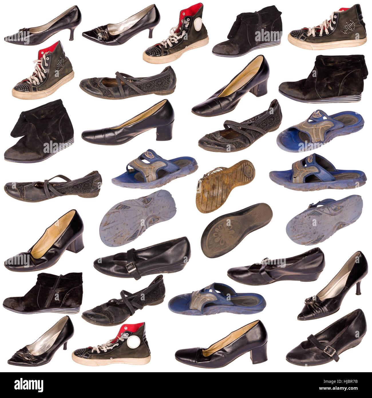 competitive price 3c729 ceb49 Viele alte, gut gebrauchte Schuhe und Stiefel, alle Logos ...