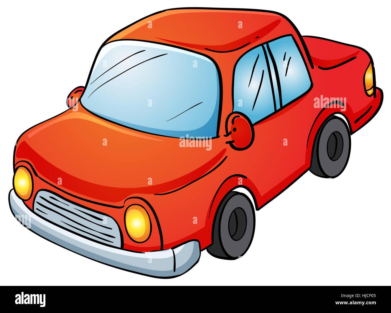 Bild Auto Comic