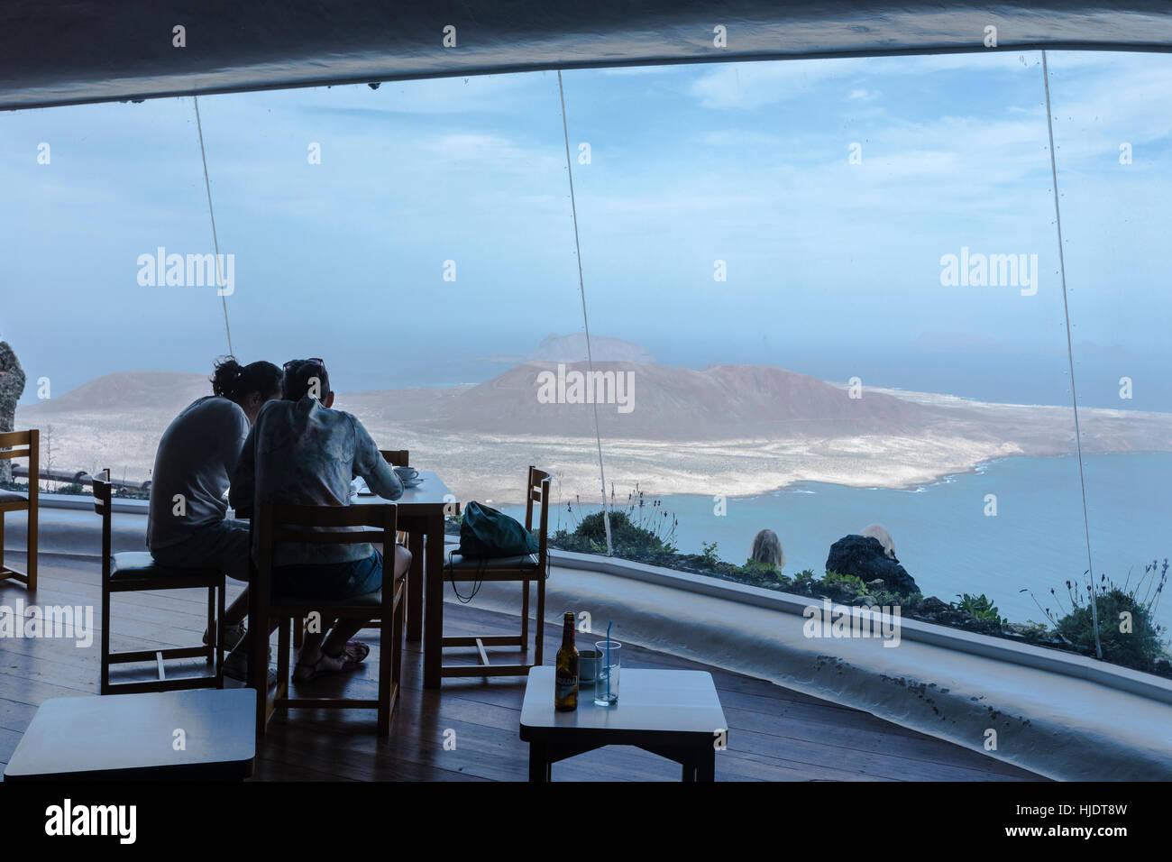 Mirador Del Rio, Lanzarote, Kanarische Inseln, Spanien Stockbild