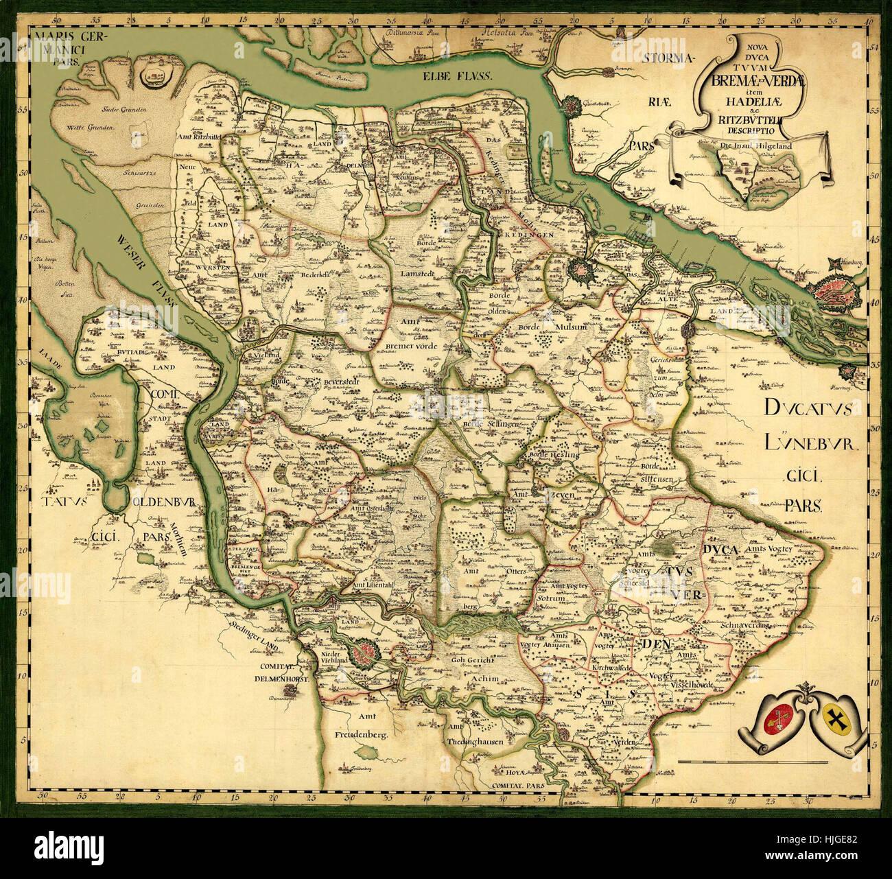 Karte Von Deutschland 1750 Stockfoto Bild 131898818 Alamy