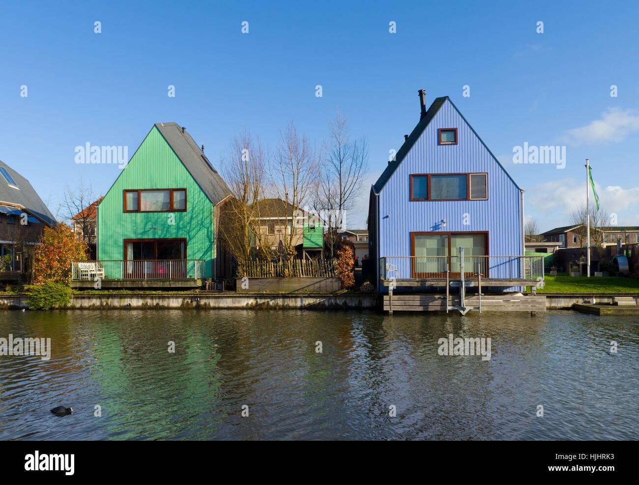 Häuser, Modern, moderne, Holland, Baustil, Architektur Stockfoto ...