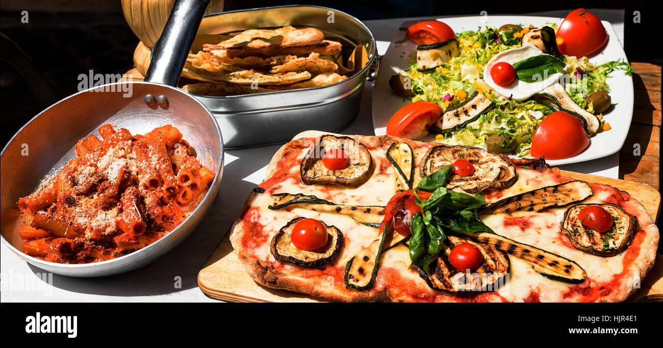 Pasta-Restaurant in der Innenstadt von Rom Italien Süd-Europa ...