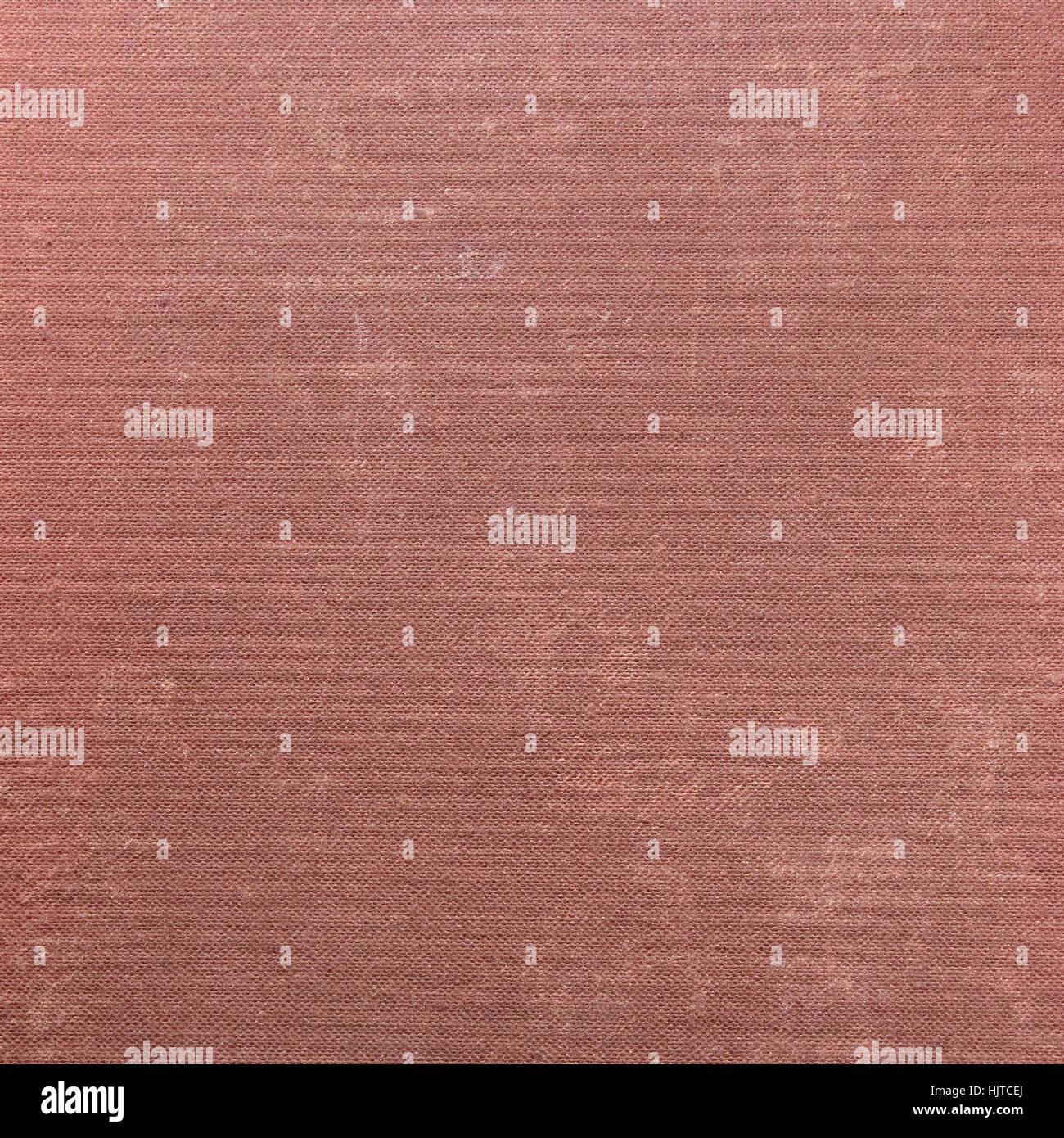 Tiefrote Grunge Leinenstruktur, detaillierten Hintergrund Muster Makro Nahaufnahme Stockbild