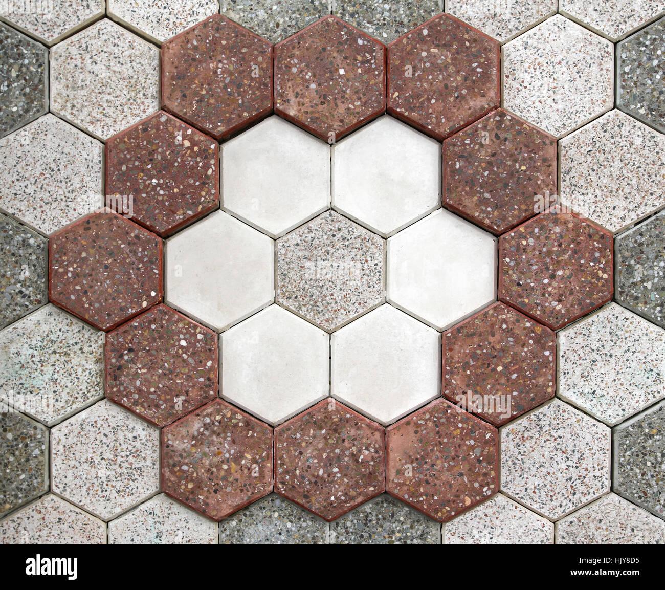 Pflaster, Fliesen, Muster, Mosaik, Mosaik, Ziegel, Steinen, Boden ...