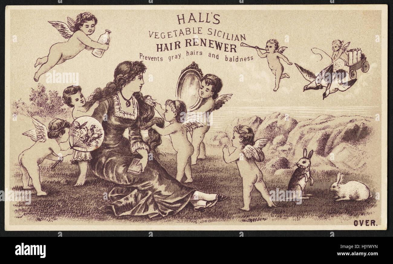 Halls Gemüse sizilianischen Haar Erneuerer verhindert, dass graue Haare und Haarausfall Stockbild