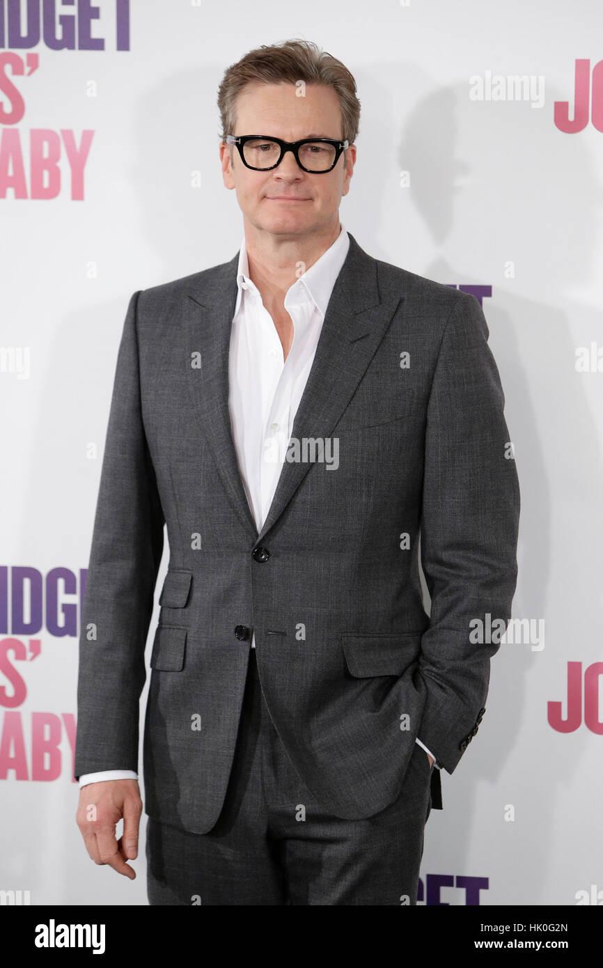 """Schauspieler Colin Firth bei einem Fototermin von """"Bridget Jones-Baby"""" in Madrid, Spanien auf Freitag, Stockbild"""