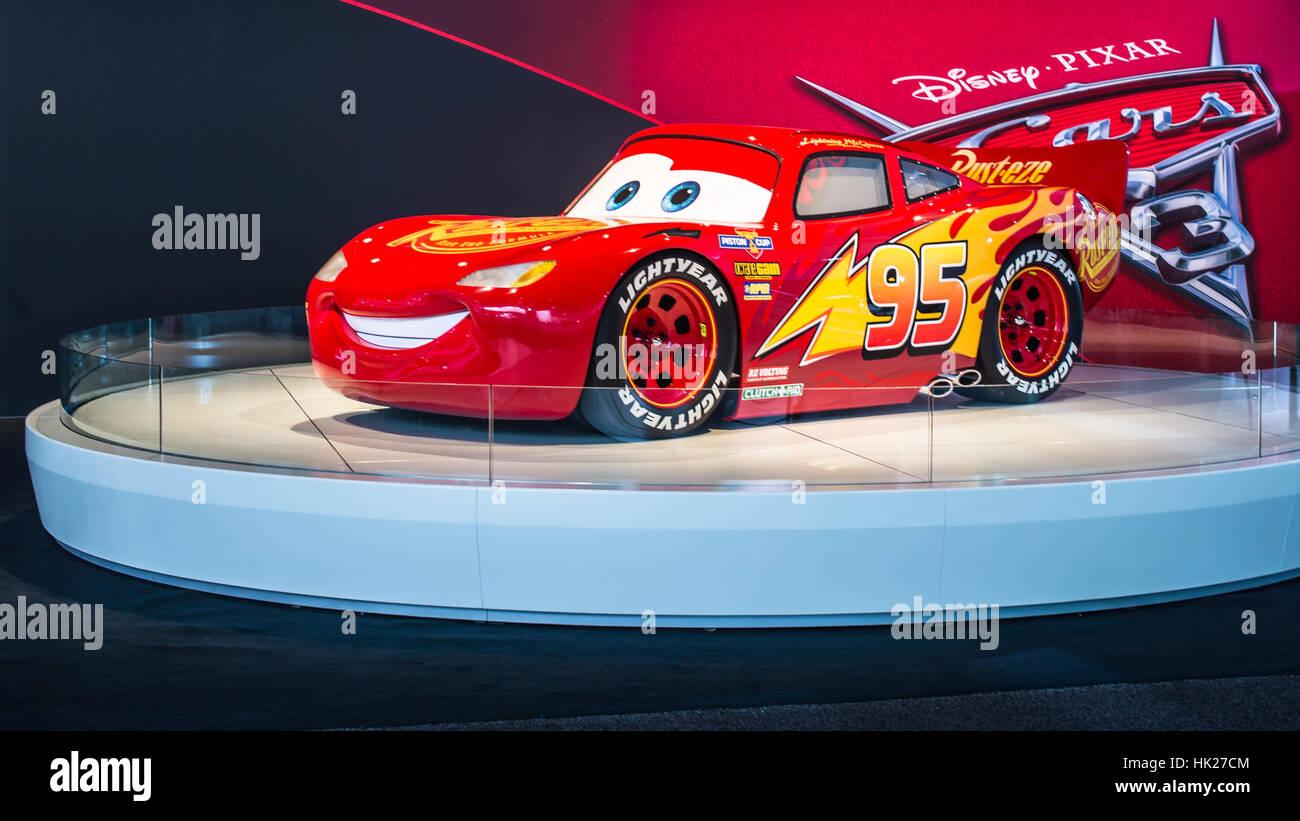 Detroit Michigan Usa 10 Januar 2017 A Disney Pixar Cars 3