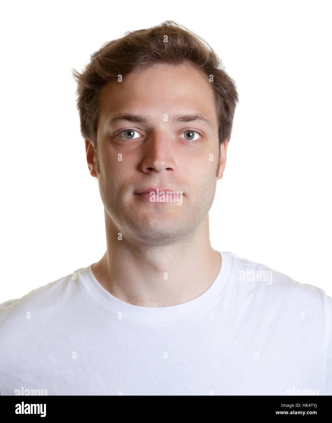 Portrait Passfoto Jung Jünger Foto Modell Modell Mann Kopf