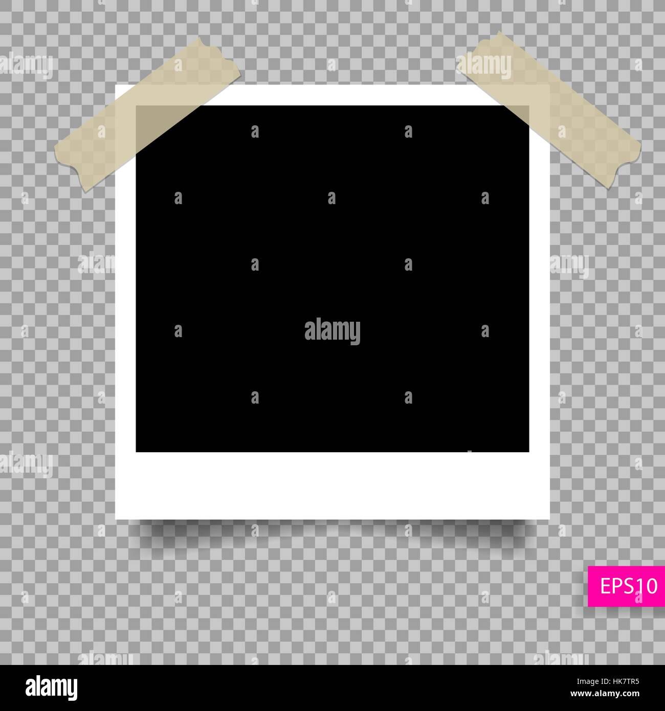Retro-Polaroid-Foto-Rahmen-Template auf Klebeband pin Vektor ...