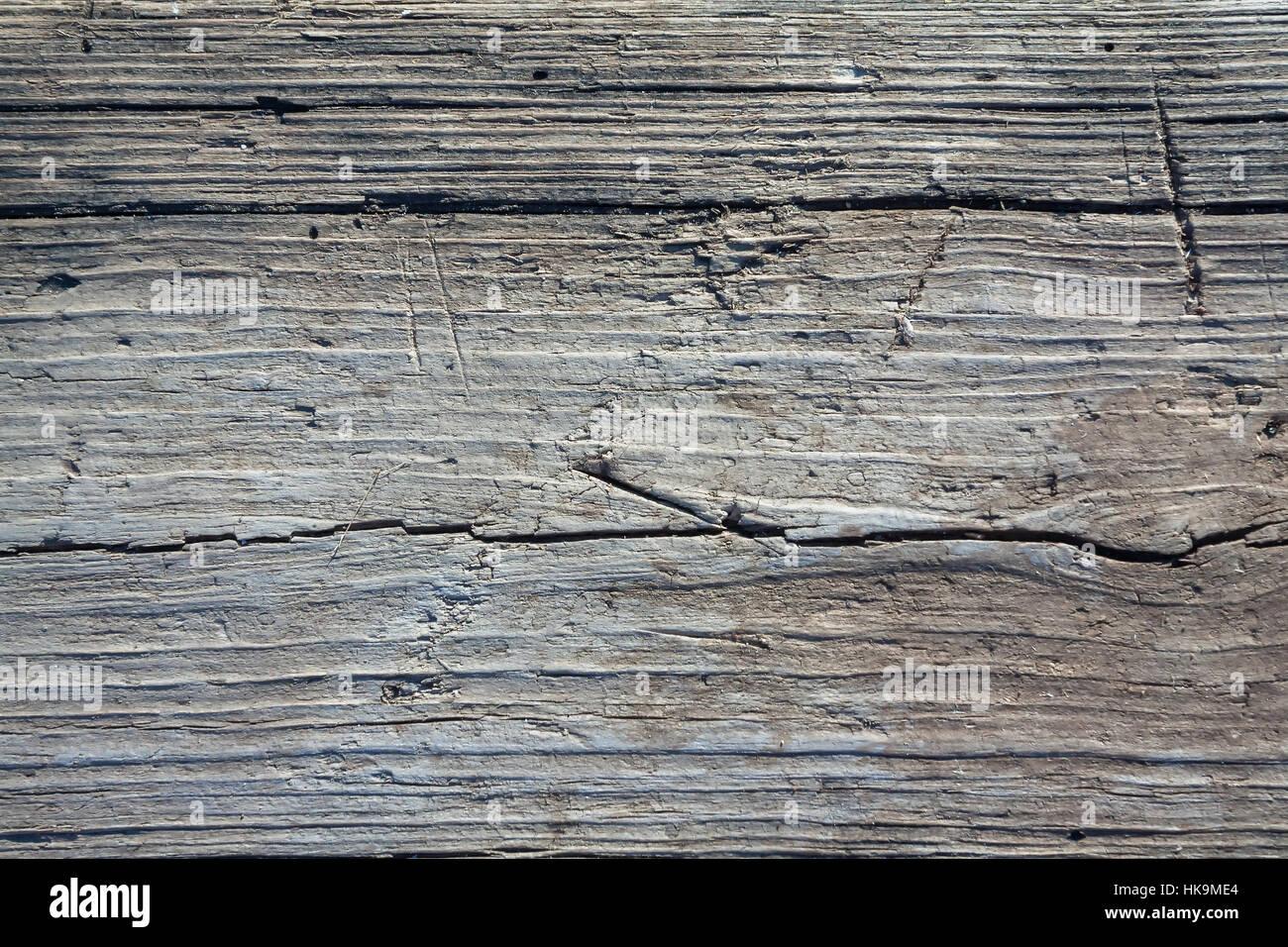 Graues Holz veraltete holz hintergrund in weißen und blauen farbton als graues