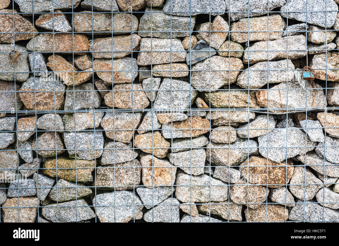 gabion rock drahtzaun metall k fig mit steinen gef llt textur im hintergrund felsen zaun mit. Black Bedroom Furniture Sets. Home Design Ideas