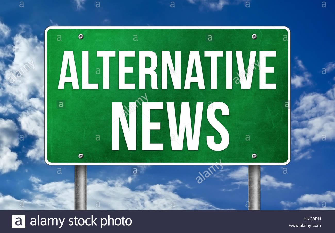 Alternative Nachrichten Stockbild
