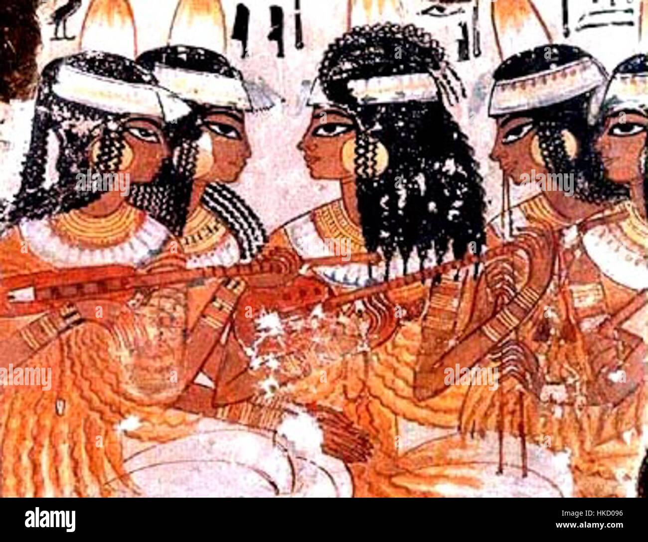 Ägyptische Lautenisten 001 Stockbild